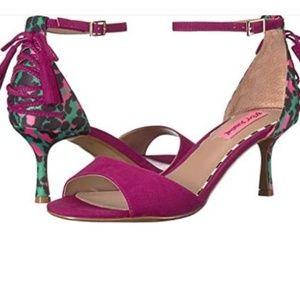 NEW Betsey Johnson Ressy Magenta Mul Lady Heels